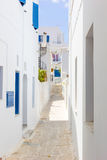 The town with white houses in Tinos Island,Greece Stock Image