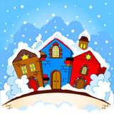 Town winter Stock Photo