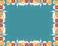 Town in winter, frame Royalty Free Stock Photo
