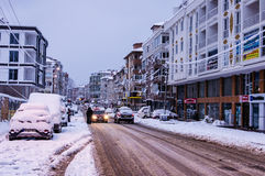 Town In The Winter Snow Royalty Free Stock Photography