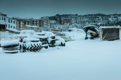 Town In The Winter Snow Royalty Free Stock Images