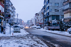 Town In The Winter Snow Royalty Free Stock Photos