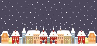 Town in winter Royalty Free Stock Photo