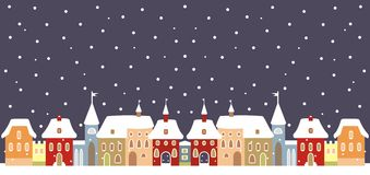 Town in winter Stock Photo
