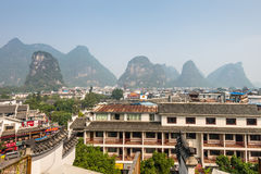 The town of Yangshuo Royalty Free Stock Image