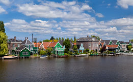 Town Zaanse Schans in Netherlands Royalty Free Stock Photos