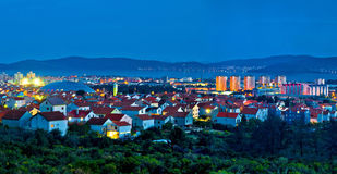 Town of Zadar blue hour panorama Royalty Free Stock Photo
