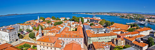 Town of Zadar panoramic view Royalty Free Stock Images