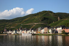 Town Zell at the Mosel river Royalty Free Stock Photos