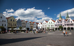 Town Zilina, Slovakia. ZILINA, SLOVAKIA - JUN 23: Centre of city Zilina on Jun 23, 2014 in Zilina Royalty Free Stock Photos
