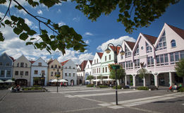 Town Zilina, Slovakia. ZILINA, SLOVAKIA - JUN 23: Centre of city Zilina on Jun 23, 2014 in Zilina Royalty Free Stock Photo