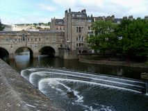 Towncenter Of Bath Stock Photo