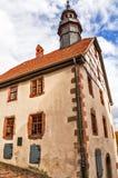 Townhall Średniowieczny Schlitz Vogelsbergkreis, Hesse, Niemcy zdjęcie royalty free