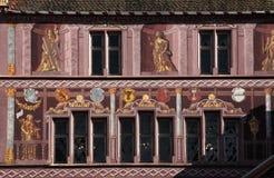 TownHall, Место de Ла Реюньон, Мюлуз, Эльзас, Франция Стоковое Фото