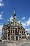 Townhall. Renaissance townhall on Liberec square, Czech Republic Royalty Free Stock Image