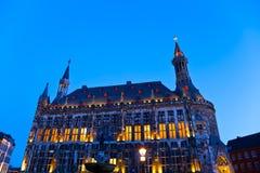 Townhall in Aachen, Deutschland Lizenzfreies Stockbild