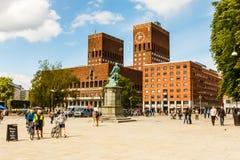 Townhall av Oslo. Arkivbilder