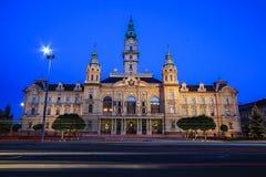 Townhall av staden Gyor Arkivfoton