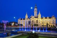 Townhall av staden Gyor Arkivfoto