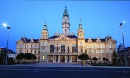 Townhall av staden Gyor Fotografering för Bildbyråer