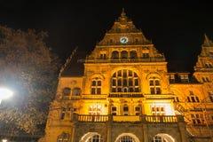 Townhall bielefeld Alemanha na noite Imagens de Stock Royalty Free