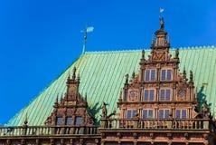 Townhall in Bremen, Duitsland. royalty-vrije stock foto