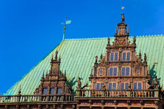 Townhall in Bremen, Germany. Detail of the famous townhall in Bremen, Germany. World Heritage Site Royalty Free Stock Photo