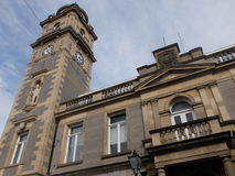 Townhall building in Enniskillen Northern Ireland. With a clock tower Royalty Free Stock Photography