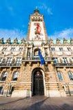Townhall de Hamburgo Fotografía de archivo