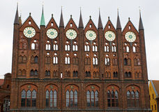 Townhall de Stralsund Photos stock