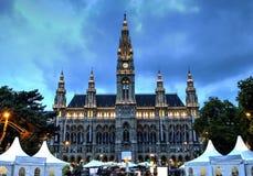 Townhall de Viena, Áustria Imagens de Stock Royalty Free