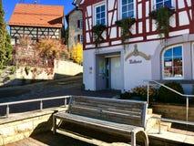 Townhall di Erpfingen nelle camice sveve, Germania Immagini Stock
