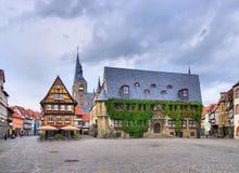 Townhall di Quedlinburg Immagini Stock