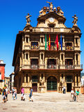 Townhall facade  in Pamplona, Spain Royalty Free Stock Photo