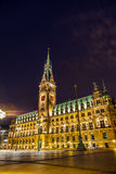 Townhall in Hamburg Royalty Free Stock Photo