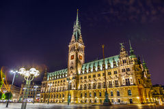 Townhall in Hamburg Stock Photography
