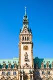 The townhall of Hamburg Stock Photo