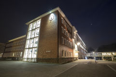 townhall herten germany at night Stock Photography