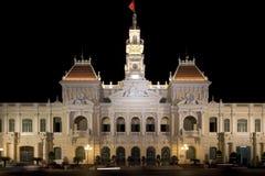 Townhall Ho-Chi-Minh-Stad, Vietnam royalty-vrije stock afbeeldingen