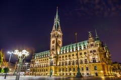 Townhall i Hamburg Arkivbild