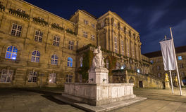 Townhall kassel germany at night Stock Photography