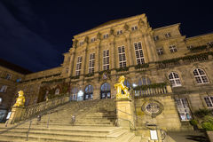 Townhall kassel germany at night Royalty Free Stock Photos