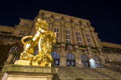 Townhall kassel germany at night Royalty Free Stock Photography