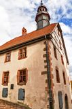 Townhall of Medieval Schlitz Vogelsbergkreis, Hesse, Germany. Townhall Stone construction of the 16th century with late Gothic forms in medieval small town royalty free stock photo