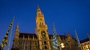 Townhall munich by night Stock Photo