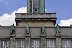 Townhall novo de Ostrava Fotografia de Stock