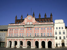 Townhall rostock Stock Photography