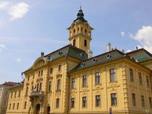 Townhall in Sheged, Hongarije Royalty-vrije Stock Afbeelding