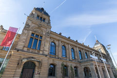 Townhall storico Wuppertal Germania Fotografie Stock