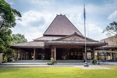 Townhall of Surakarta or Solo Indonesia. Townhall of Surakarta Indonesia undser reconstruction royalty free stock photography
